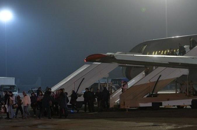 На аэродроме Чкаловский