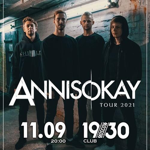 Концерт группы Annisokay 11 сентября