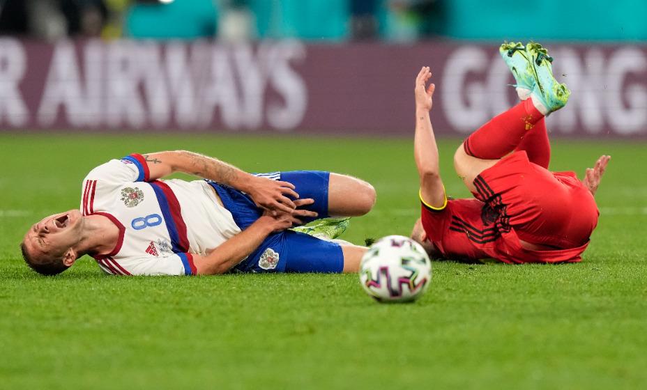 Игрок сборной России Дмитрий Баринов о матче против Бельгии. Фото: Reuters