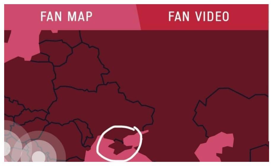 Официальный сайт Олимпиады-2020 отделил Крым границей от Украины. Фото: Официальный сайт Игр-2020