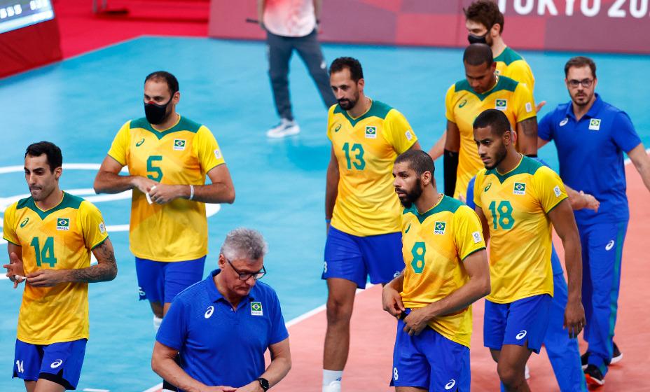 Сборная Бразилии по волейболу разочарована поражением от сборной России в полуфинале олимпийского турнира. Фото: Reuters
