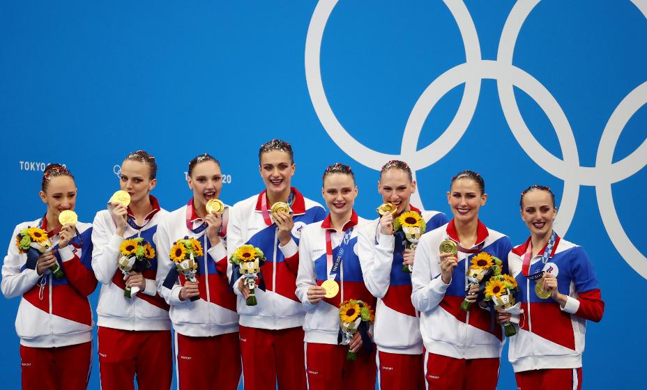 Российские синхронистки стали олимпийскими чемпионками Игр-2020 в Токио. Фото: Reuters