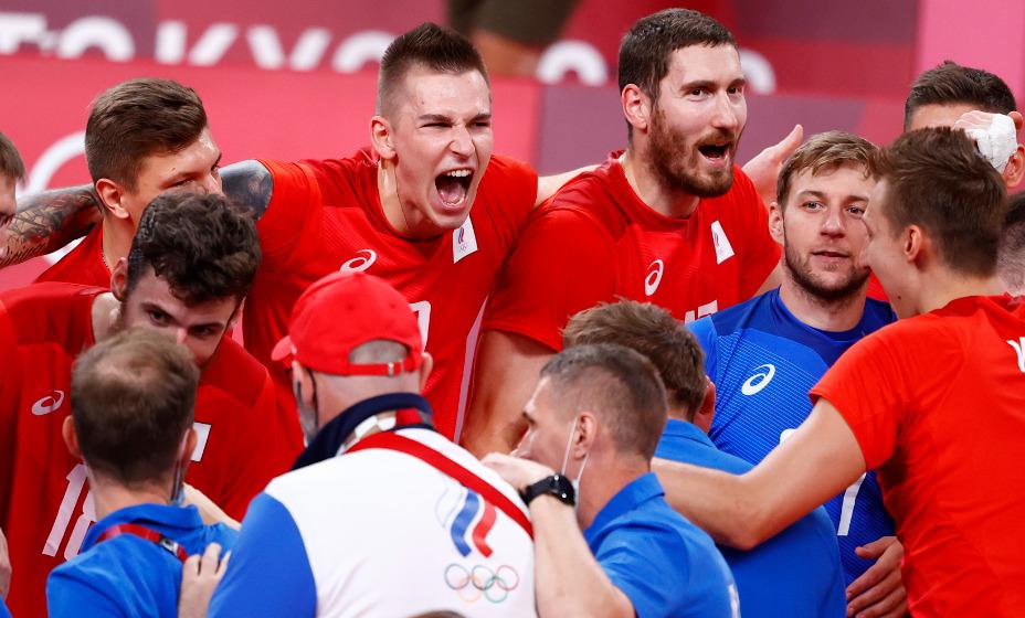 Мужская сборная России по волейболу счастлива, что вышла в полуфинал турнира Игр-2020. Фото: Reuters