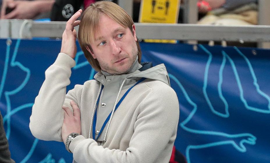 Евгений Плющенко объяснил, что с его ученицей Вероникой Жилиной. Фото: Global Look Press
