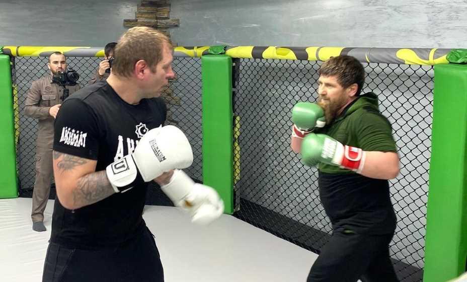 Александр Емельяненко в Чеченской республике тренировался вместе с Рамзаном Кадыровым. Фото: Инстаграм Александра Емельяненко